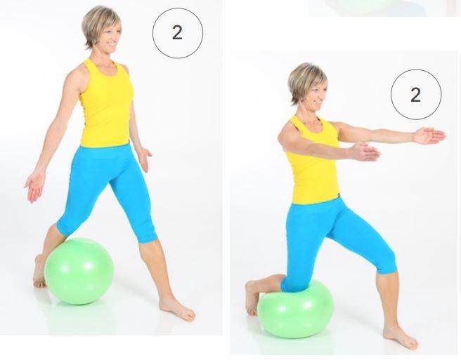 Standübung mit dem Redondo Ball Plus